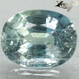 3.76 Ct.Full Fire Unheated Natural Oval 7.5*10 mm Green Blue Tanga Mine Sapphire