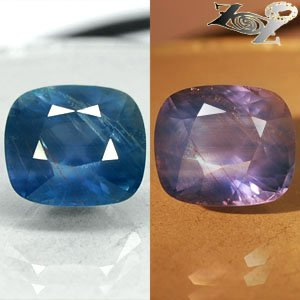 15.05 Ct.Unheated Natural Cushion 12*14 mm. Greenish Blue Color Change Sapphire