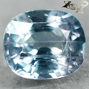 2.64 Ct.Full Fire Unheated Natural Oval 7*8.5 Moderate Greenish Blue Sapphire