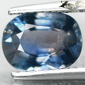2.17 Ct.Unheated Natural Oval 7*9 mm Labradorescence Violetish Blue Sapphire