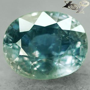 14.3 Ct.Unheated Full Fire Natural Oval 12*14.5 Intense Greenish Blue Sapphire