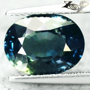 4.99 CT.Unheated Firely Natural Oval 8.5*11 mm Intense Blue Green Sapphire 綠��寶�