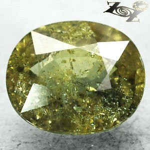 6.05 CT.Unheated Natural Oval 10*11.5 mm. Intense Honey Yellow Green Sapphire