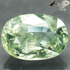 13.38 CT.Unheated Certified Natural Oval 12*16.5 mm. Lemon Green Sapphire 綠��寶�
