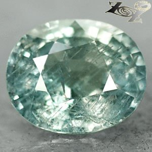 5.59 Ct.Firely Unheated Natural Oval 9.2*11 Ligth Greenish Blue Tanga Sapphire