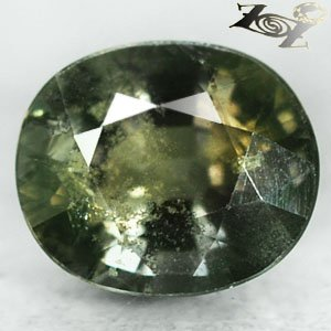 7.87 Ct.Unheated Natural Oval 10.5*12.5 Intense Blueish Yellow Green Sapphire