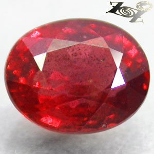 2.09 CT.Natural Oval 6*8 mm. Exceptional Orangish Red Tanga Tanzania Sapphire