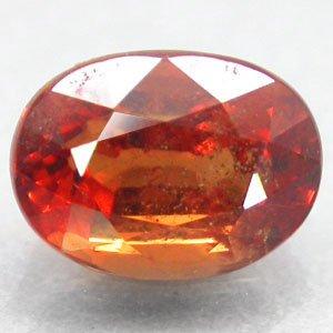 2.21 CT.Natural Oval 6*8 mm. Hot Intense Orange Tanga Mine Tanzania Sapphire Gem