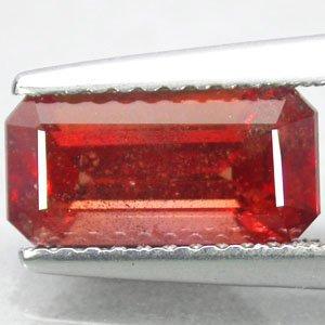 2.26 CT.Natural Emerald 5*10 mm. Vivid Orange Tanga Tanzania Corundum Sapphire