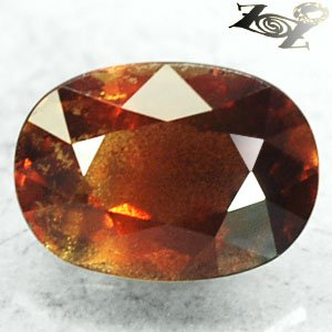 3.79 CT.Unheated Unusual Natural Oval 7.5*10.5 Schiller Honey Red Brown Sapphire