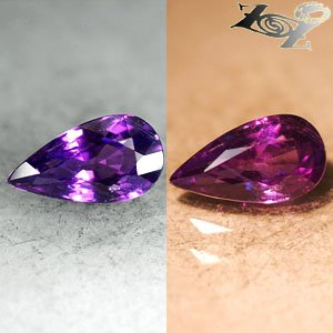 2.47 Ct.VVS Full Fire Unheated Natural Pear 6*11 mm Violet Color Change Sapphire