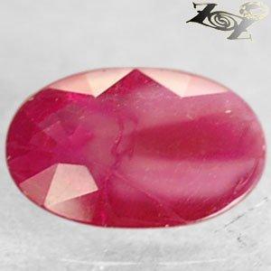 Natural Oval 5 * 7 mm.Pink Red Mogok Burma Ruby 0.67 Ct.Gem