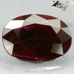 5.24 Ct.Big Rare Natural Oval 10*13 Deep Red Mogok Burma Ruby �寶�