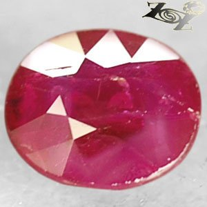 Natural Oval 5.8 * 6.5 mm. Red Mogok Burma Ruby 1.22 Ct.