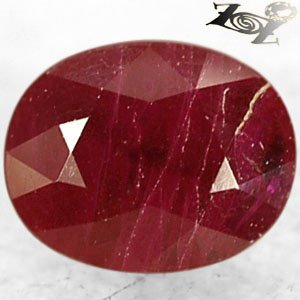 Natural Oval 6*7 mm. Red Mogok Burma Ruby Corundum 1.55 Ct.