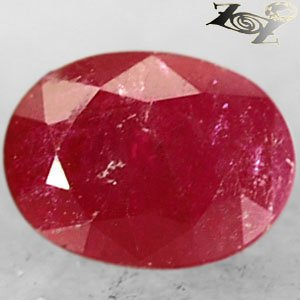 Natural Oval 4.5 * 6.5 mm. Red Mogok Burma Ruby 1.17 Ct.Gems