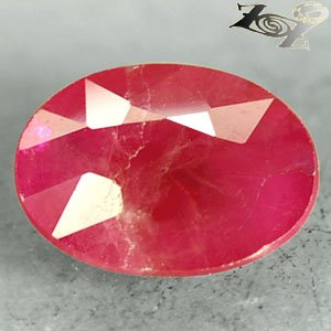 Natural Oval 6 * 8 mm. Pink Red Mogok Burma Ruby 1.2 Ct.Gem