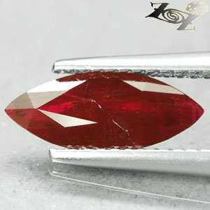 Natural Marquise 5*12.5 Intense Blood Pigeon Red Mogok Burma Ruby 1.67 Ct.�寶�