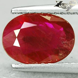 Natural Oval 6.8*9.5 mm. Intense Blood Pigeon Red Mogok Burma Ruby 1.8 Ct.�寶�