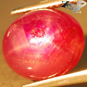 4.77 Ct.Natural Oval 9.5*11 mm. 6 Rays Star Red Madagascar Ruby Corundum Gems