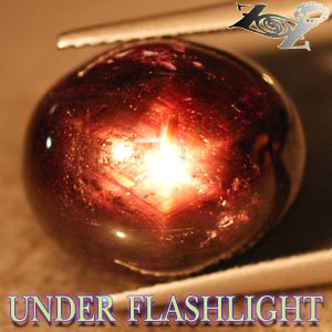 19.51 CT.Natural Oval 13*15 mm. 6 Rays Star Brown Red Madagascar Ruby Corundum