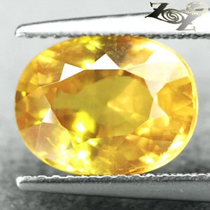 5.07 CT.Unheated VVS 1 Certified Natural Oval 8.5*11 mm. Vivid Yellow Sapphire