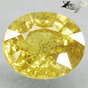 3.18 Ct.Unheated Natural Oval Lime Yellow Tanga Mine Tanzania Sapphire ���寶�