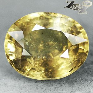 9.03 Ct.Firely Unheated Natural Oval 11*13 Intense Lime Yellow Tanga Sapphire