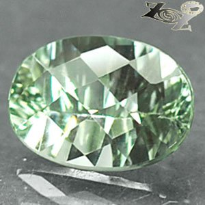 5.42CT Flawless Natural Oval 10*14m.Checkerboard Green Prasiolite Amethyst 綠�紫水�