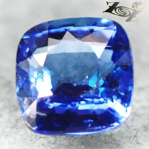 2.02 CT.Flawless Natural Cushion 7 mm. Exceptional Blue Tanzania Tanzanite Gems