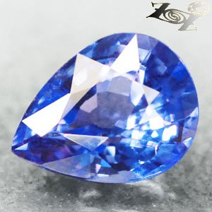 3.23 CT.VVS 1 Natural Pear 8*10.5 mm. Intense Cornflower Purple Blue Tanzanite