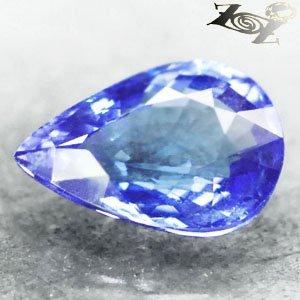 3.01 CT.Flawless Natural Pear 8*11 mm. Vivid Cornflower Purple Blue Tanzanite ��