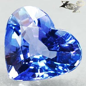 2.03 Ct.Flawless Natural Heart 8*9 mm. Intense Purple Tanzania Tanzanite ��
