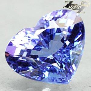 2.34 Ct.Flawless Full Fire Natural Heart 7.5*9 mm Sweet Blue Purple Tanzanite ��