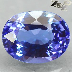 2.73 Ct.Firely Flawless Natural Oval 8*10 mm. Intense Blue Purple Tanzanite Gems