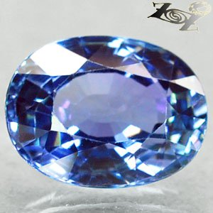 3.41 Ct.Flawless Firely Natural Oval 7.5*10 mm. Intense Blue Purple Tanzanite