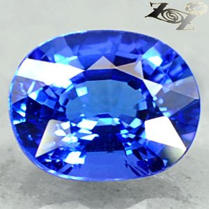 Full Fire Flawless Natural Oval 7*8.5 mm Vivid Violetish Blue Tanzanite 1.88 Ct.