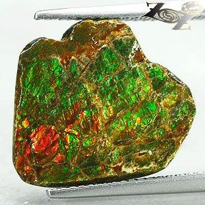 5.98 CT.Natural Iridescence Extreme Play Rainbow Color Dragon Skin Ammolite Slab
