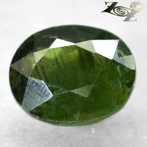 7.53 CT.Natural Oval 10.5*13 mm. Intense Leaf Green Madagascar Apatite 綠�磷��