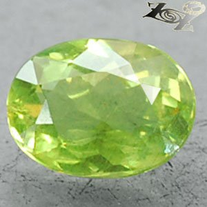 2.05 CT.Natural Oval 6.5*8.5 mm. Intense Olive Green Tanzania Apatite Loose Gem