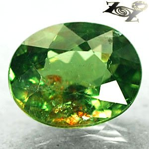 2.88 CT.Natural Oval 8*10 mm.Red Spark Intense Green Madagascar Apatite 綠�磷��