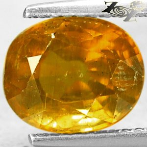 3.14 Ct.Big Firely Natural Oval 7.5*9 mm. Intense Honey Yellow Tanzania Apatite