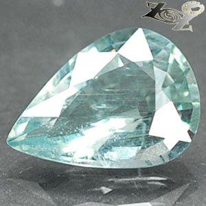 6.82 CT.Firly Natural Pear 12*16.5 mm Intense Aqua Greenish Blue Aquamarine 海�寶�