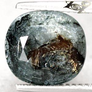 5.94 CT.Natural Cushion 10*11 mm.Spark Orange Plates Matrix Russia Astrophylite