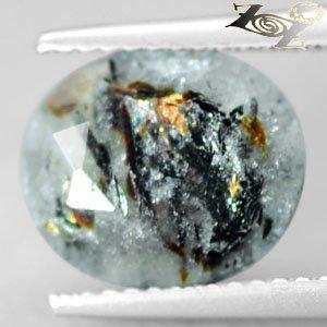 3.28 CT.Natural Oval 9*10.5 mm.Spark Orange Platelet Matrix Russia Astrophylite