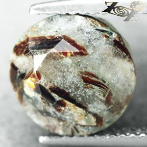 5.67 CT.Natural Round 10.5 mm Spark Orange Plates Zebra Skin Astrophylite ���