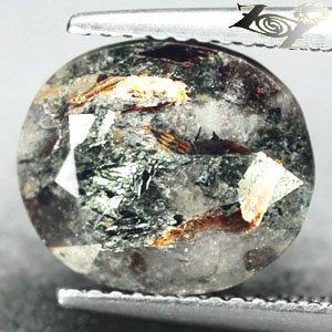5.41 CT.Natural Oval 10*12 mm. Spark Orange Plates Matrix Russia Astrophylite
