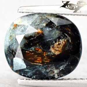 4.86 CT.Natural Oval 9*11 mm. Spark Orange Plates Full Table Russia Astrophylite
