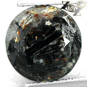 5.38 CT.Natural Round 10.5 mm. Spark Orange Plates Matrix Russia Astrophylite