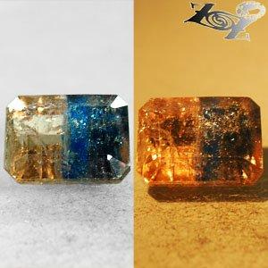 3.98 Ct.Natural Emerald 7.5*10 mm Bi Color Salmon Brown Blue Magnesio Axinite ��